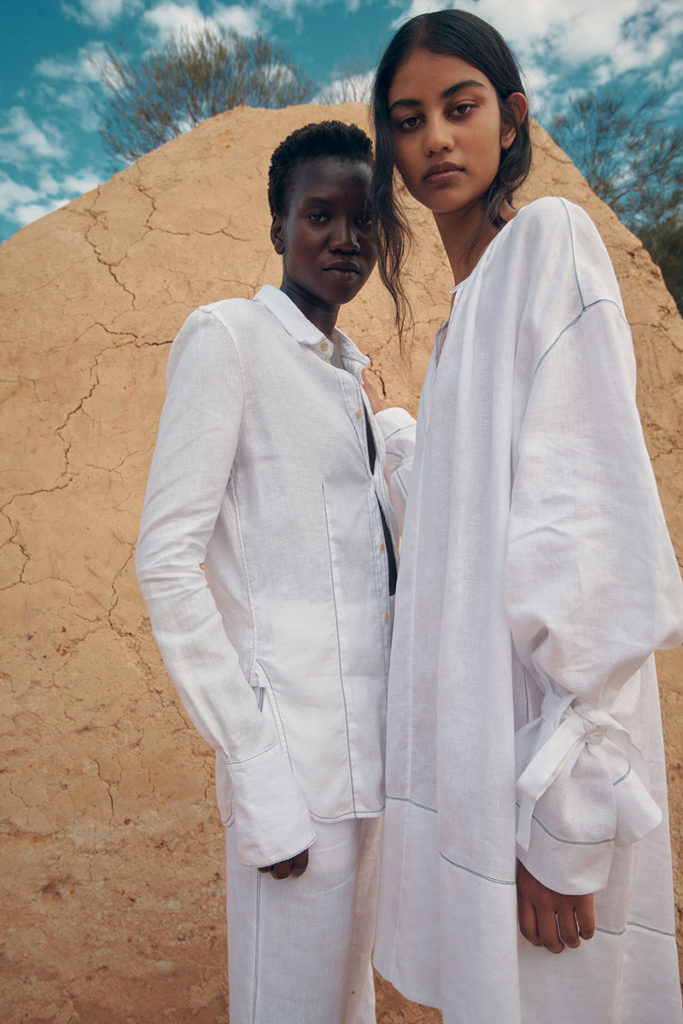 Bassike resort - ss21 - photographer Isaac Brown - styling Sarah Daly - hair Rory Rice - WM-Artist Management