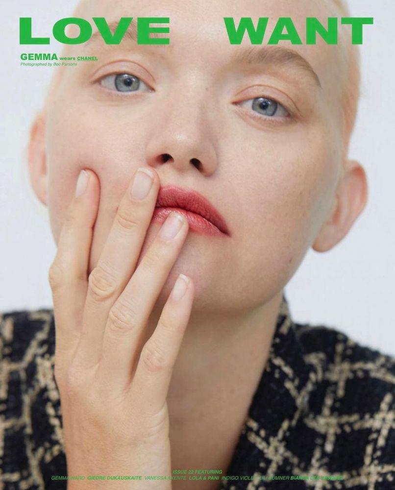 Love want magazine - Gemma ward - photographer Bec Parsons - creative director Mark Vassallo - hair Rory Rice - WM-Artist Management